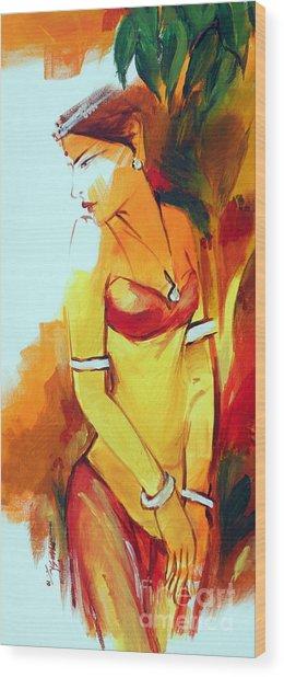 Radha Wood Print by Manish Verma
