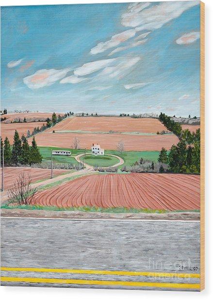 Red Soil On Prince Edward Island Wood Print