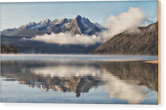 Redfish Lake Wood Print by Lisa Kidd