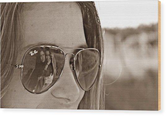 Reflected Friends Wood Print by Jenny Senra Pampin