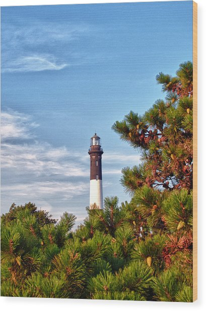 Robert Moses Light House Wood Print by Linda Pulvermacher