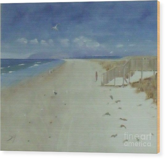 Ruakaka Beach Wood Print by Debra Piro