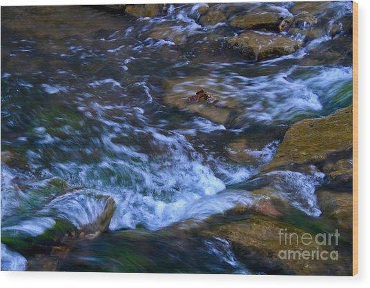 Rushing Water Wood Print by Royce  Gideon