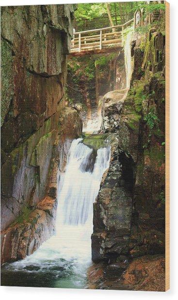Sabbaday Falls Wood Print by David Gilman