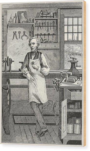 Samuel F. B. Morse 1791-1872, Inventor Wood Print by Everett