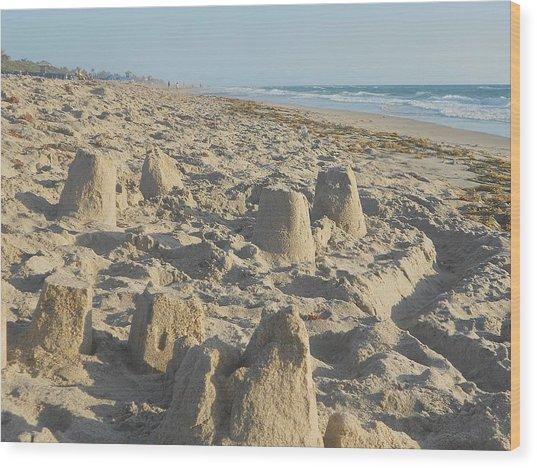 Sand Play Wood Print by Sheila Silverstein