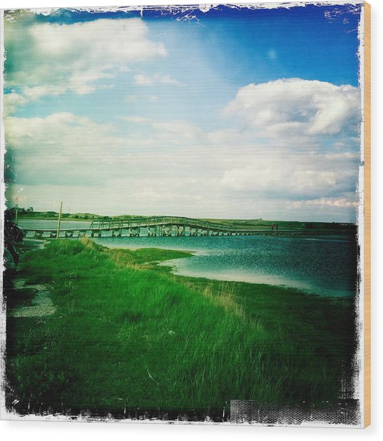 Sandwich Boardwalk Wood Print