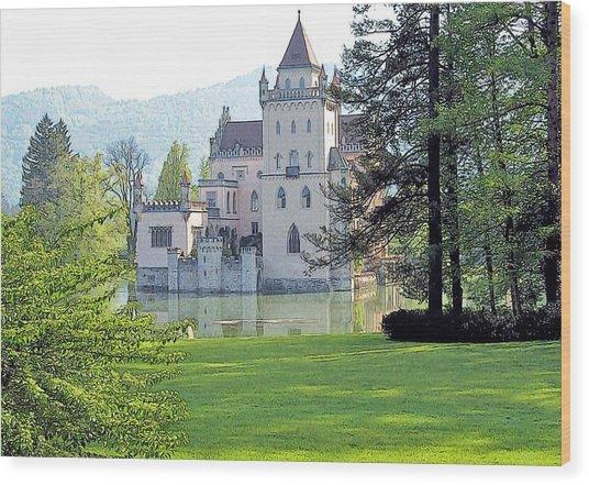 Schloss Anif Wood Print