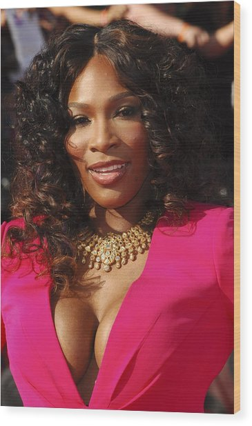 Serena Williams At Arrivals For The Wood Print