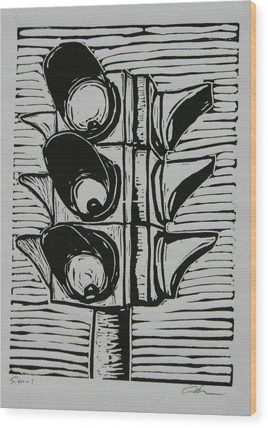 Signal Wood Print
