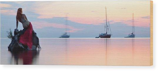 Siren's Dawn Wood Print