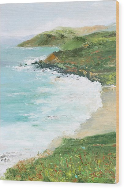 Somewhere On Big Sur Wood Print by Max Mckenzie