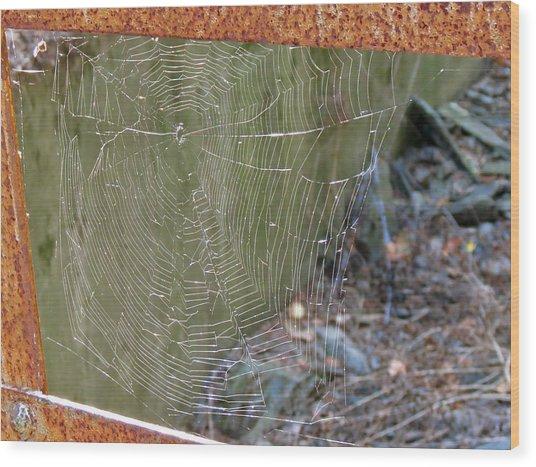 Spider Bridge Wood Print