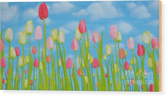 Spring Festival Wood Print by Holly Donohoe