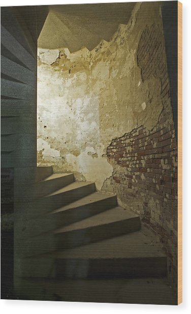 Staircase Down Into The Demilune Wood Print