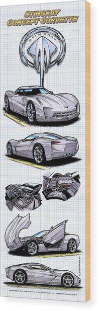 Stingray Concept Corvette Wood Print