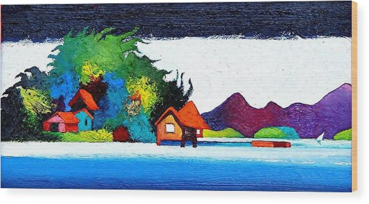 Summer Vacation Wood Print by Rob M Harper