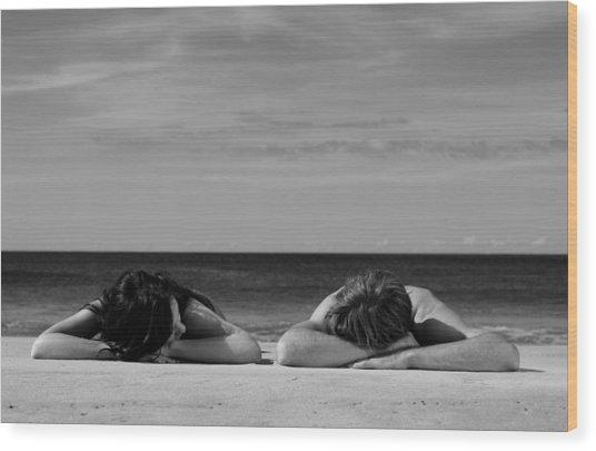 Sunbathers Wood Print by Noel Elliot