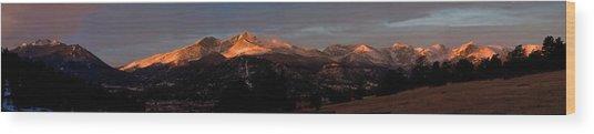 Sunrise On Long's Peak Wood Print by G Wigler