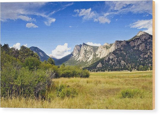 Sunset At Rocky Mountain Park Co. Wood Print
