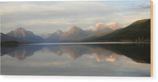 Sunset Lake Mcdonald Wood Print