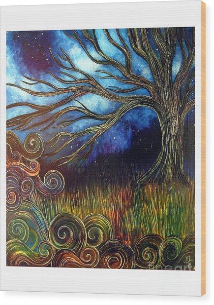 Sweet Night Wood Print