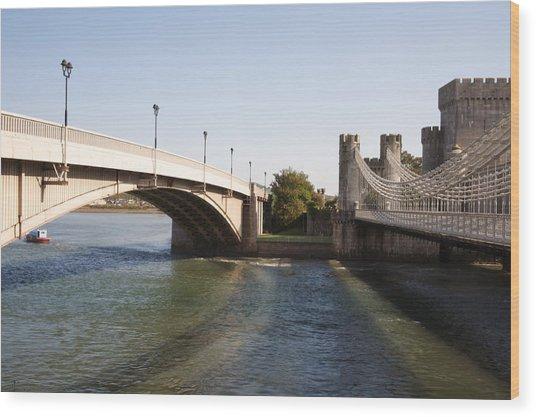 Telford Suspension Bridge Wood Print