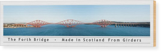 The Forth Bridge Wood Print
