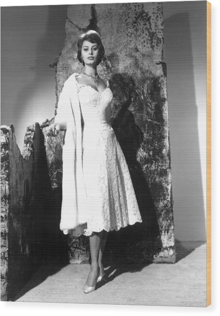 The Key, Sophia Loren, 1958 Wood Print by Everett