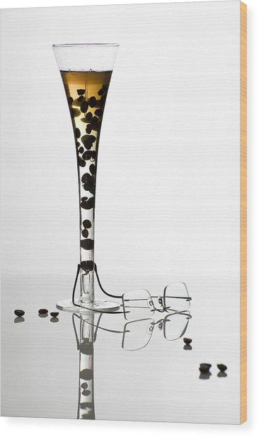 The Morning Drink Wood Print by Ovidiu Bastea