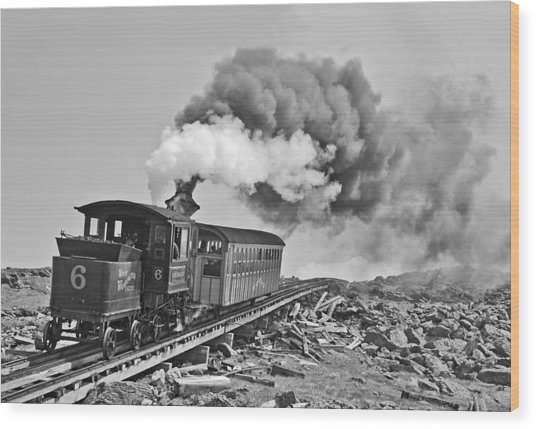 The Mount Washington Cog Railroad Wood Print