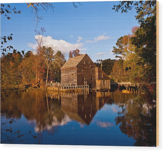 The Old Yates Mill Wood Print by Sheila Kay McIntyre