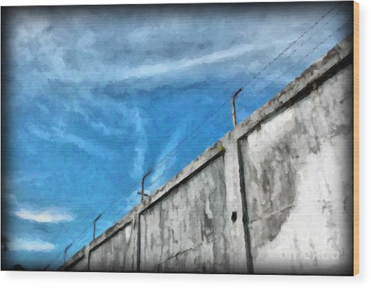 The Prison Walls Wood Print by Antoni Halim
