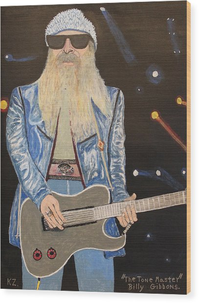The Tone Master.billy Gibbons. Wood Print