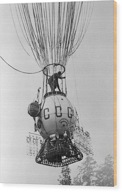Ussr-1 High-altitude Balloon, 1933 Wood Print by Ria Novosti