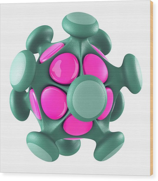 Virus Particle, Conceptual Image Wood Print by Laguna Design