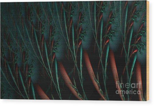 Weird Plants Wood Print
