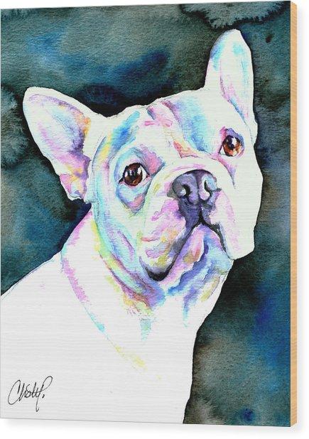White French Bulldog Wood Print