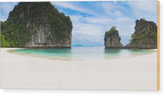 White Sandy Beach In Thailand Wood Print