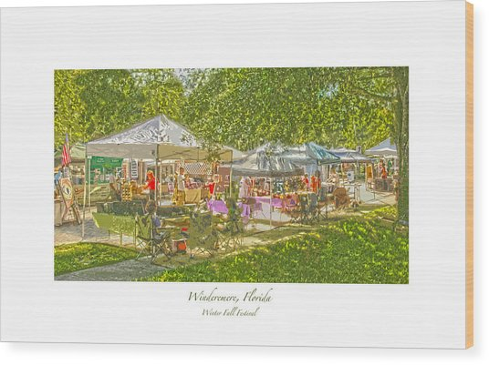 Windermere Fall Festival Wood Print