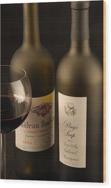 Wine Labels Wood Print
