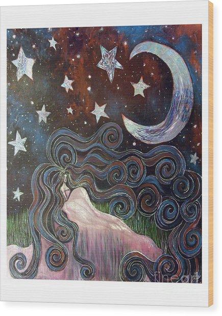 Wonder Of Night Wood Print