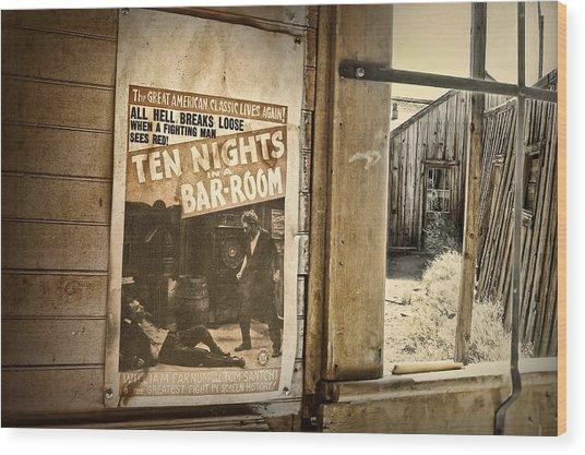 10 Nights In A Bar Room Wood Print