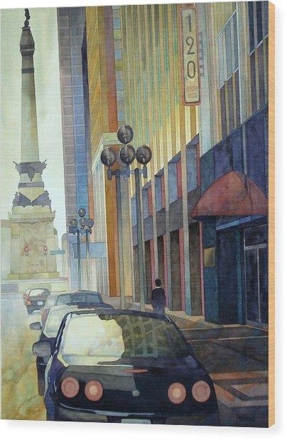 120 E Market Wood Print by Ryan Petrow