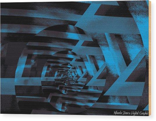 Twirling Wood Print by Mihaela Stancu