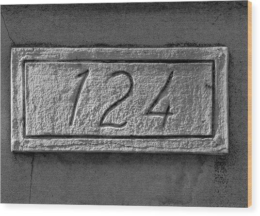 124 Wood Print by Robert Ullmann