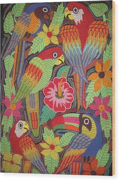 Birds Of Panama Wood Print by Kathy Othon