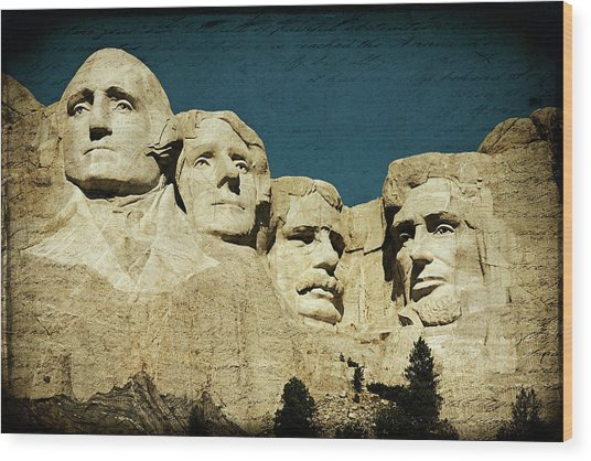 150 Years Of American History Wood Print