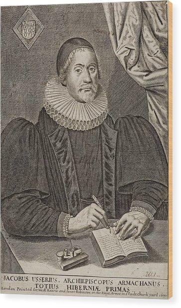 1650 Bishop Usher Portrait 4004bc Wood Print by Paul D Stewart
