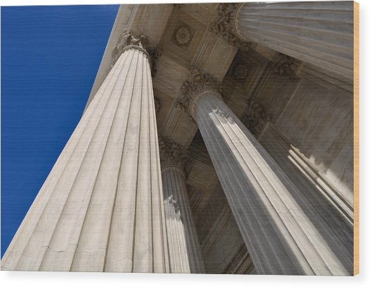 Pillars Of Law And Justice Wood Print